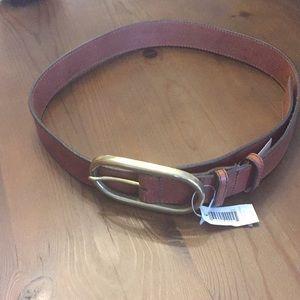 NWT Banana Republic belt with brass buckle - Sz M